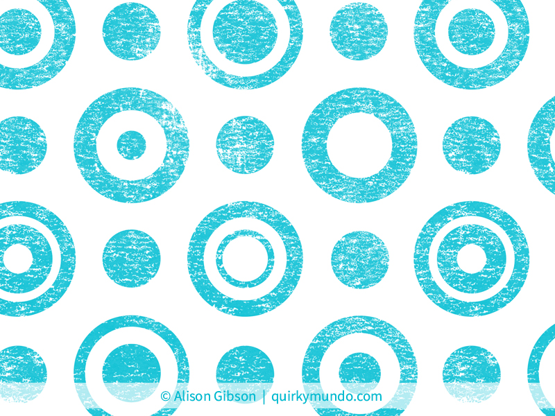 Lino rings turquoise inverted