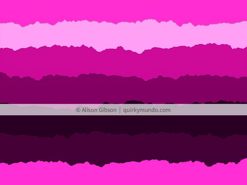 Magenta torn paper striped collage - Quirky Mundo