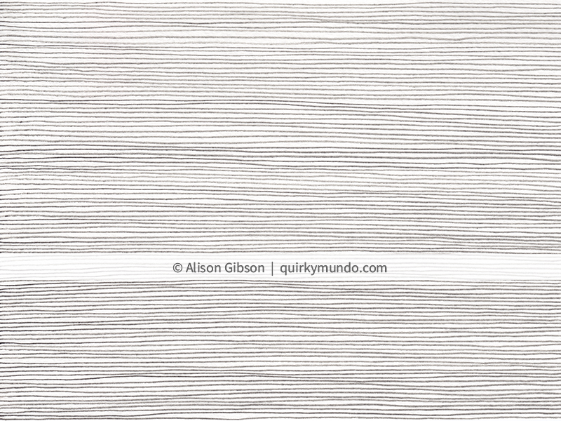Background texture featuring horizontal pencil lines - Quirky Mundo