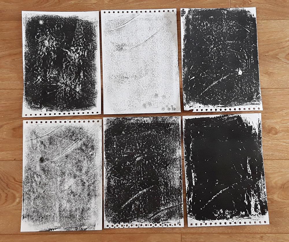 Photo of printed lino sheets
